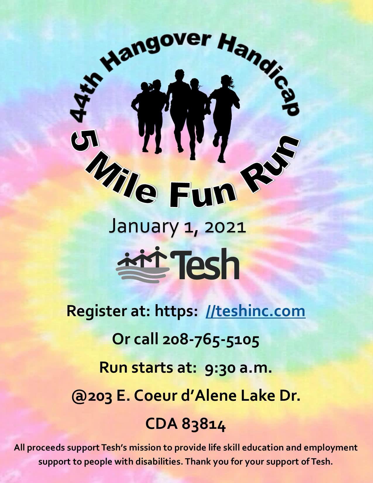 Hangover Handicap 5 Mile Run Poster 01