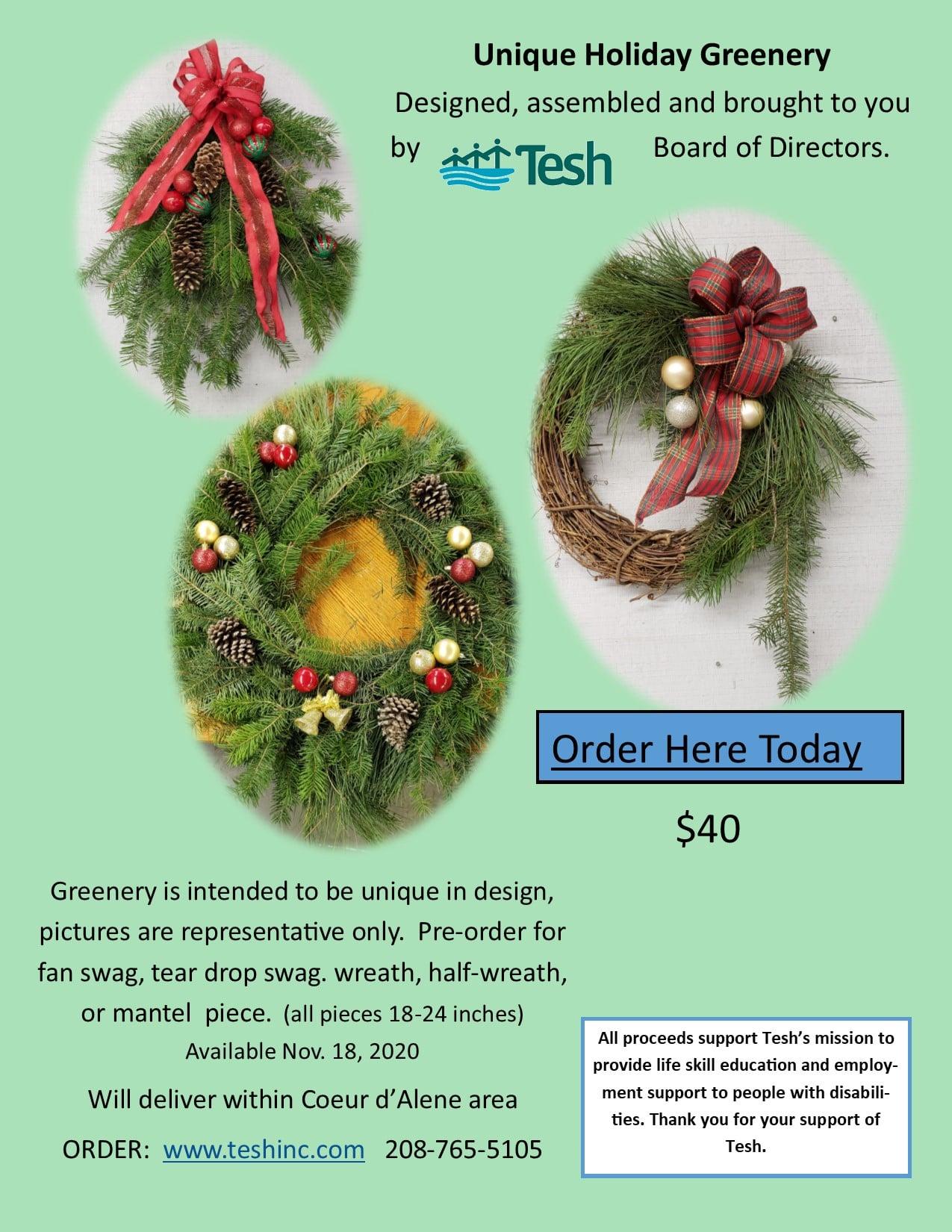 Holiday Greenery Flyer #1